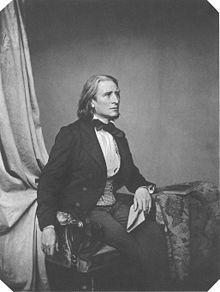 Liszt en 1858 par Franz Hanfstaengl