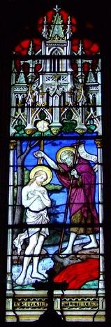baptême du Christ dans le Jourdain (collégiale Saint-Martin à  Clamecy dans la Nièvre).