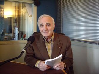 Charles Aznavour au studio de Canal Académie