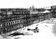 Palais des Tuileries pris sous le même angle après l'incendie