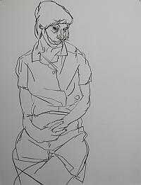 """Adrien Vermont, """"Claire"""", dessin 2011, Prix David-Weill de l'Académie des beaux-arts"""
