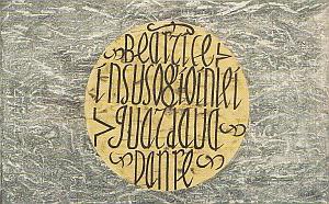 Jean Cortot, Une lecture de Dante n°97,  Béatrice in suso, acrylique sur papier marouflé sur toile, 43,5 x 119 cm