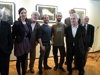 Les lauréats du prix de dessin David-Weill de l'Académie des beaux-arts 2011 avec Vladimir Velickovic et ses confrères, 6 avril 2011, Académie des beaux-arts-Institut de France