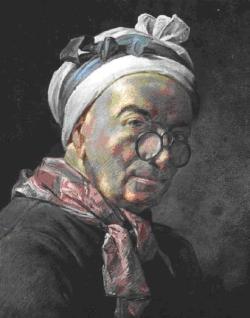 Autopotrait aux bésicles, 1771
