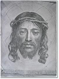"""Claude Mellan, """" La Sainte Face"""", 1649, Tirage chalcographique; burin; 43,5 x 32 cm"""