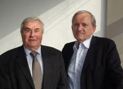 Gilbert Ruelle et Guy Laval (de gauche à droite)