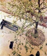 Boulevard vu d'en haut 1880, huile sur toile, 65 x 54