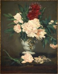 Vase de pivoines sur piedouche, 1864 Huile sur toile, 93,2 x 70,2 cm Paris, musee d'Orsay