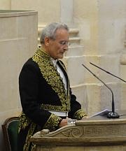 François-Bernard Mâche, membre de l'Académie  des beaux-arts, 15 juin 2011,  Coupole de l'Institut de France