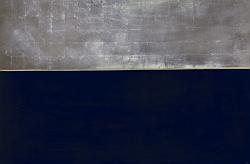 """Anna-Eva Bergman, """" N°49-1969 Paysage nordique """", 146 X 97  cm, vinyle et feuille de métal, support bois, 1969"""