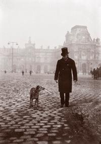 Gustave Caillebotte et Bergère sur la place du Carrousel 1892, tirage photographique, 15,5 x 10,5 cm Collection particulière