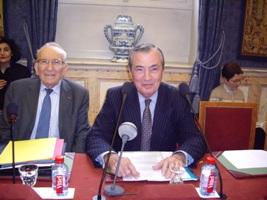 Bertrand Collomb et Yvon Gattaz, de l'Académie des sciences morales et politiques