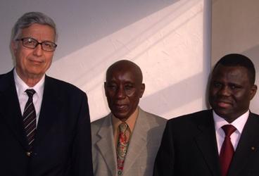 Mustapha Besbes, Doudou Ba et Vincent Dabilgou (de gauche à droite).