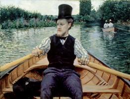 Canotier au chapeau haut de forme 1877-1878, huile sur toile, 90 x 117 cm, collection particulière