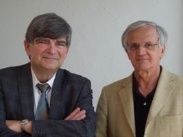 Mihchel Griffon et Henri Leridon ( de gauche à droite)