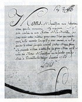 Une lettre de cachet signée par le roi.
