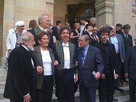 Michaël Levinas, entouré de ses proches, 15 juin 2011, Institut de France,