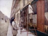 Les Peintres en bâtiment 1877, huile sur toile, 87 x 116 cm, collection particulière