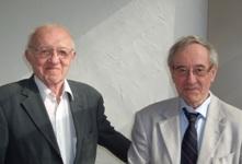 Yves Quéré et André Pineau (de gauche à droite)