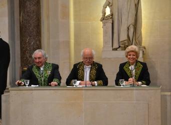 Jean Clair, Erik Orsenna et Hélène Carrère d'Encausse © Canal Académie