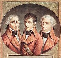 Les trois consuls: Cambacérès, Napoléon et Lebrun