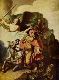 Balaam sur son Ânesse vu par Rembrandt