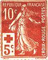 La Semeuse sur un timbre postal français de 1918