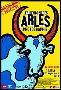 Affiche des Rencontres d'Arles  photographie 2011, dessinée par Michel Bouvet