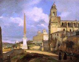 La trinité des Monts et la Villa Medicis à Rome, François Marius Granet de l'Académie des beaux-arts
