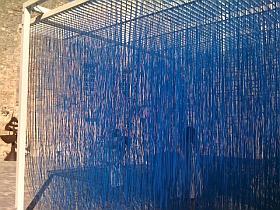 Sculpture de Jesus Raphaël Soto, Pénétrable BBL Bleu - 1999, Exposition Lacoste 2011