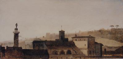 La Colonne Antonine et le palais Monte Citerio François Marius Granet de l'académie des beaux-arts