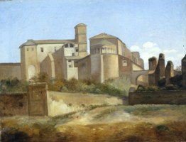 Rome, l'Eglise des Saints Jean et Paul et le Quirinal, François Marius Granet de l'Académie des beaux-arts