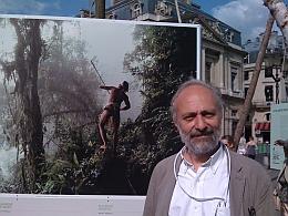 """Denis Loyer, Place du Palais Royal, exposition """"Des forêts et des hommes"""", 25 juin 2011"""