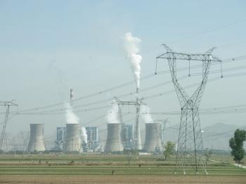 Centrale au charbon, Shuozhou, Shanxi, Chine