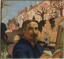 Maurice Denis: Autoportrait devant le Prieuré