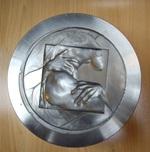 Moule ayant servi à la sculpture du médaillon «Le Rapt de Proserpine par Pluton»