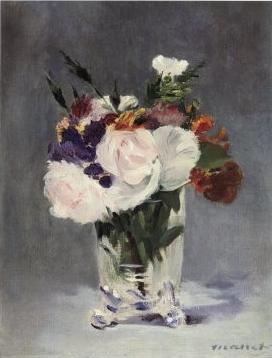 Fleurs dans un vase de cristal, Edouard Manet, 1882