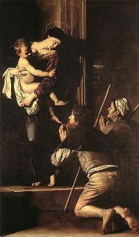 La Vierge des Pèlerins Le Caravage