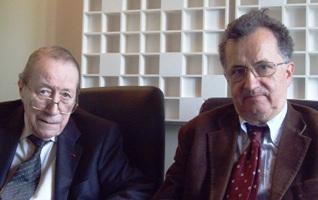 Pierre Buser et Claude Debru (de gauche à droite)