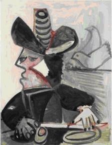 Pablo Picasso, Buste de mousquetaire à l'oiseau