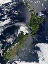 La Nouvelle-Zélande est formée de deux îles principales et d'une multitude d'autres plus petites.