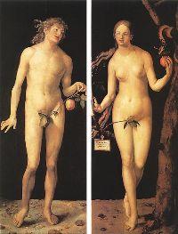 Adam et Eve par Durer