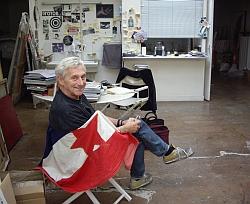 Vladimir Velickovic dans son atelier le 21 septembre 2011