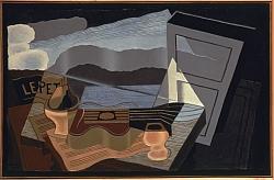 Juan Gris, Vue sur la Baie, 1921, Huile sur toile, 65 x 100 cm Musée National d'Art Moderne, Centre Pompidou, Paris