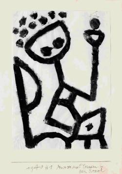 Paul Klee, Ivre, se laisse tomber sur son siège1940