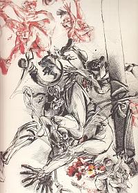 Velickovic, Cri-1986-encre de chine et acrylique sur papier- 160x120 cm