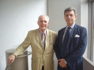 Georges-Henri Soutou, de l'Académie des Sciences Morales et Politiques et Maurizio Serra, ambassadeur, délégué permanent de l'Italie auprès de l'UNESCO et historien