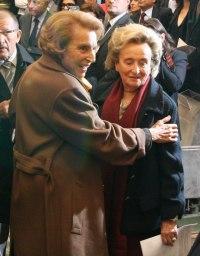 Liliane Bettencourt et Bernadette Chirac, Installation de Patrick de Carolis au sein de l'Académie des beaux-arts, Institut de France, 12 octobre 2011