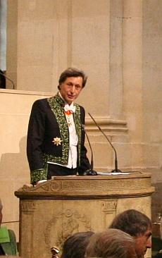 Patrick de Carolis lors de son installation à l'Académie des Beaux-arts, 12 octobre 2011