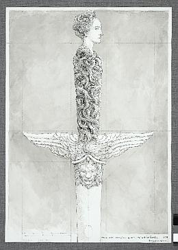 Erik Desmazières, Dessin pour l'épée de l'académicien  Patrick de Carolis, 2011